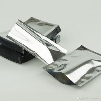 bolsa plana aluminio